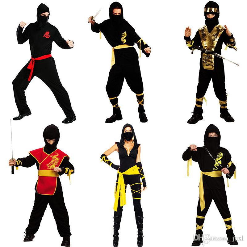 Ninja Costume Night Assassin Clothing Adult Halloween Carnival Costumes  Fantasia Fancy Dress Party Supplies