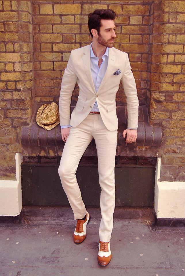 Cream Suits For Prom - Go Suits