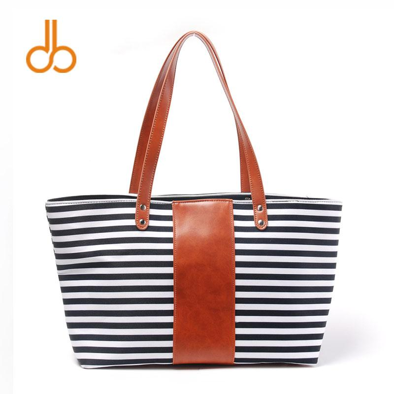 909002215c66 53cm 19cm 33cm Polyester Canvas Striped Tote Wholesale Blanks Mummy Casual  Accessories Purse Wedding Gift Handbag DOM106752 Polyester Canvas Striped  Tote ...