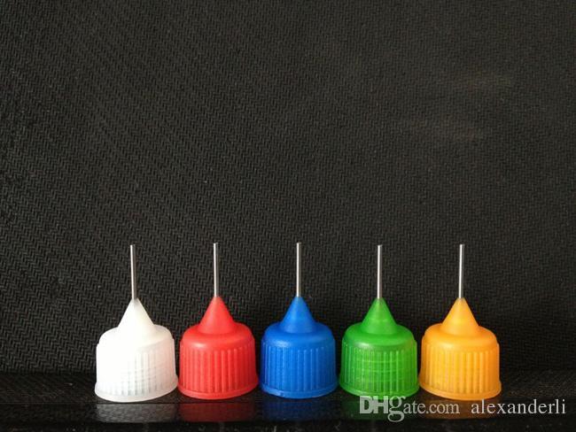 E-liquide Bouteille vide 3ml 5ml 10ml 15ml 20ml 30ml 50ml Flacon aiguille pour la série eGo E Cigarettes en plastique bouteilles avec des bouts Dropper métal