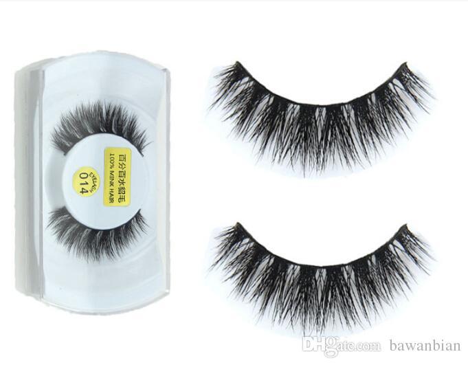 100% echte nertsen natuurlijke dikke valse valse wimpers oog wimpers make-up extensie schoonheid tools groothandel gratis verzending