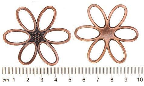 Metalowy Kwiat Urok Vintage Copper Duże Nowy DIY Moda Biżuteria Wyszukiwanie i akcesoria Dostawcy Dla Biżuterii Craft Handmade 44mm 50 sztuk