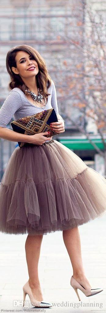 Claire White Soft Tulle Skirt - Below Knee Midi - Cest Ça