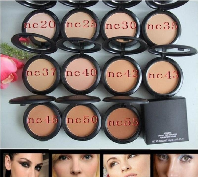 Baixo preço de Alta qualidade de Maquiagem Profissional STUDIO FIX PÓ PLUS FOUNDATION FOND DE TEINT PONTOS 15g pó em pó prensado em pó NC NW