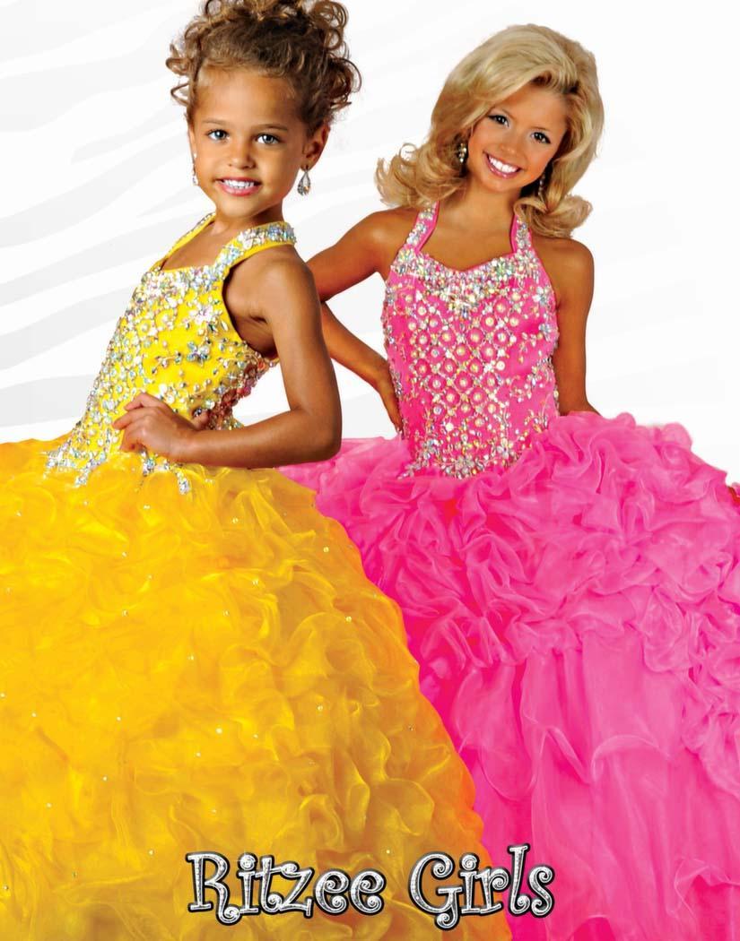 2019 Nouvelles Robes Pageant Pour Petite Fille Halter Perles Cristal Robe De Bal Ruffles Organza Personnalisé Orange Princesse Fleur Fille Enfant Robe De cérémonie