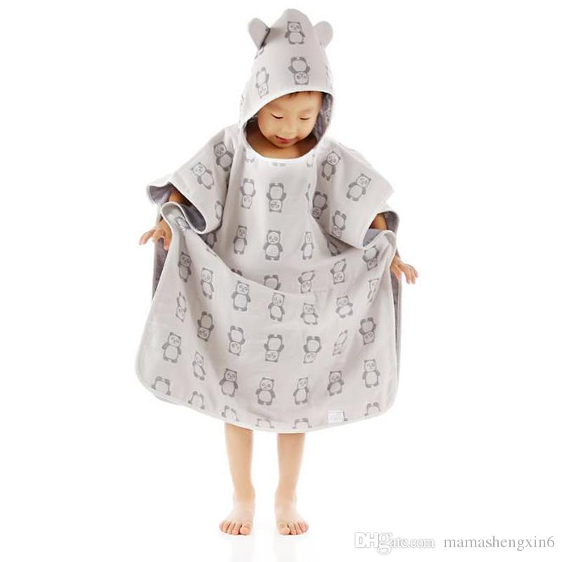 New baby shower four layers gauze robes cloak baby bathing caps cape cotton gauze children bath towel for sale