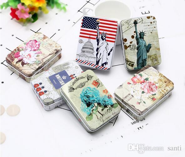 Renkli mini teneke Metal kutu Mühürlü kavanoz ambalaj kutuları takı şeker kutusu küçük saklama kutuları Para küpe kulaklık hediye kutusu