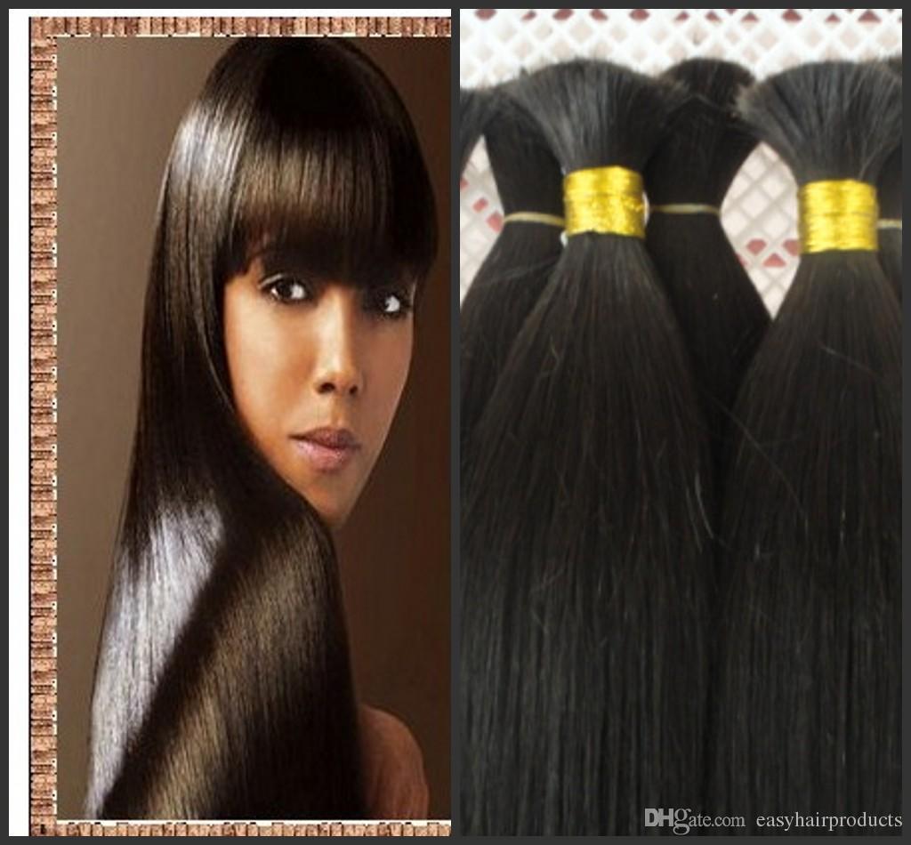 Brading cabelo em massa, novos produtos de cabelo humano vindo G-EASY cabelo liso natural