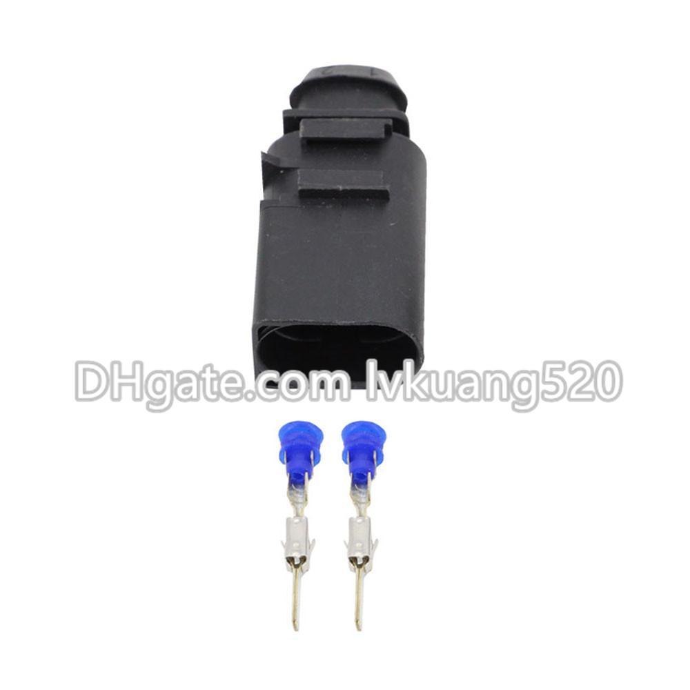 5 Sätze 2 Pin 3,5mm männlichen und weiblichen wasserdichten Horn stecker mit terminina DJ7025A-3.5-11 / 21