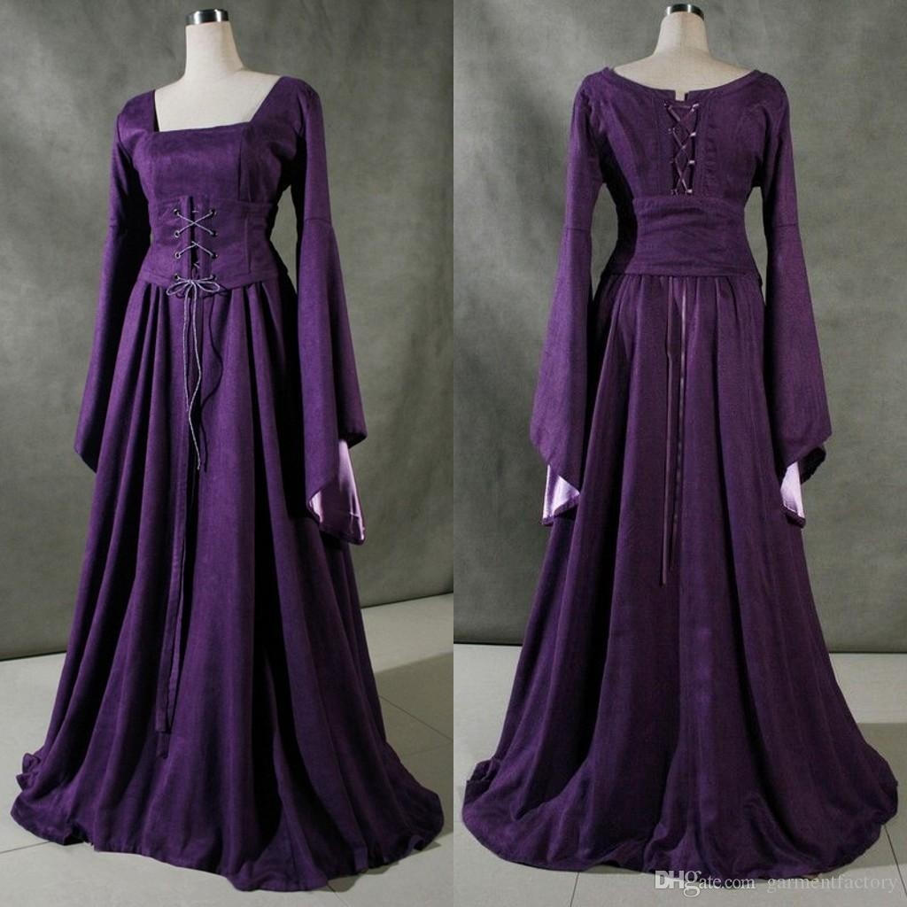 Großhandel Vintage Viktorianischen Brautkleider Lange Ärmel 2015 ...