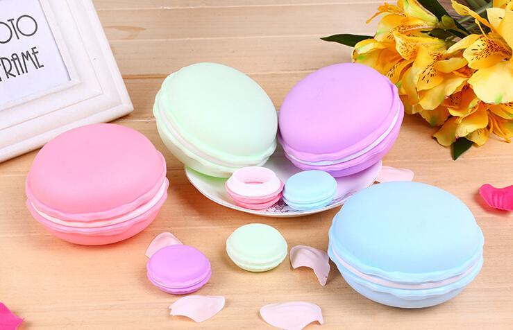 Commercio all'ingrosso creativo sveglio della cassa della pillola del contenitore di monili del contenitore di monili di colore di Macaron di colore della caramella di trasporto libero /