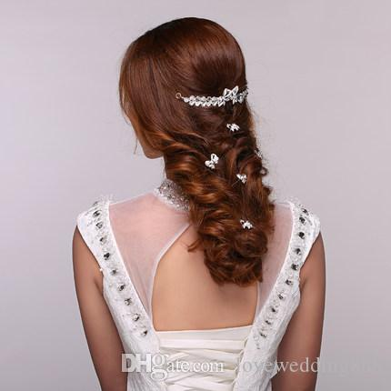 Fashion Pearl Hair Pins Crystal Hair Jewellery Wedding Bridal Jewelry Hair Accessories for Prom Party High Quality Cheap