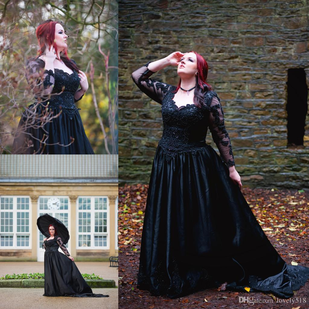 plus size gothic wedding dresses | Wedding