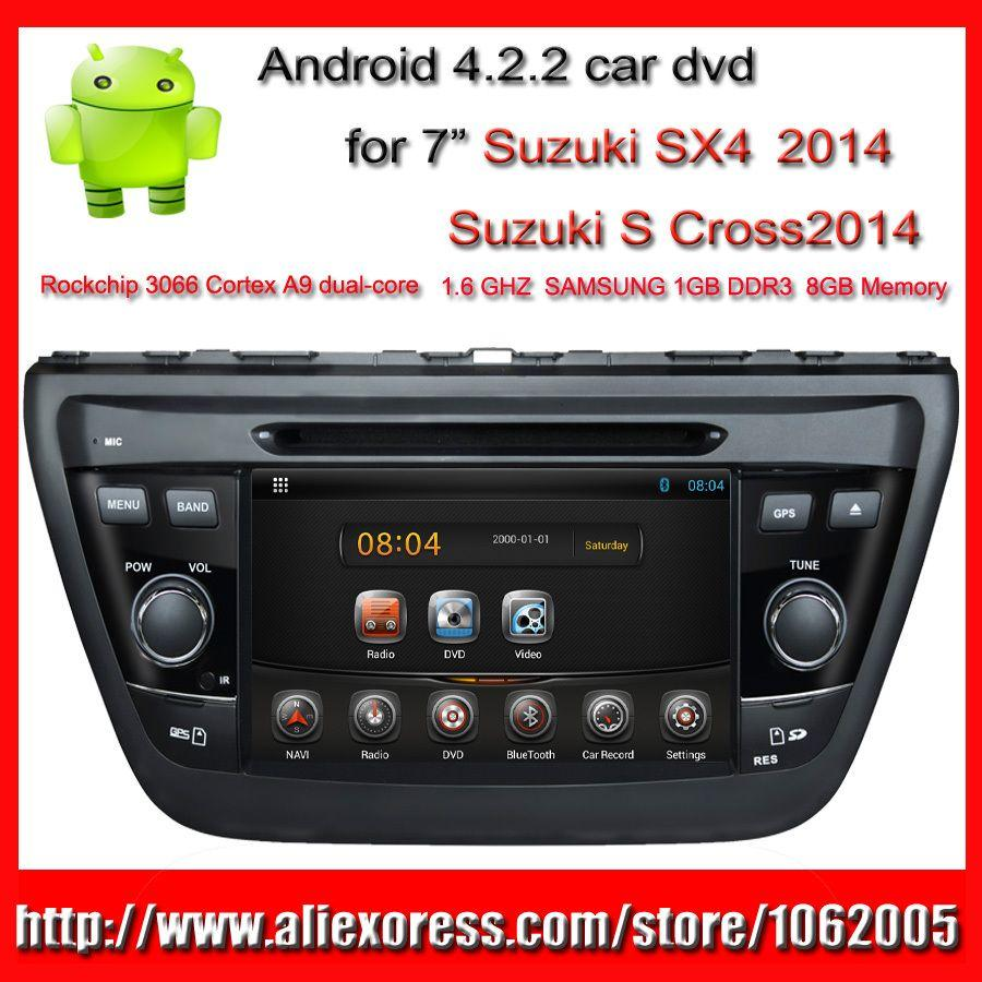 2014 suzuki sx4 car dvd player with gps s cross pc radio bluetooth tv 3g wifi 100 android 2 din 7 inch mp3 mp4 player usb sd