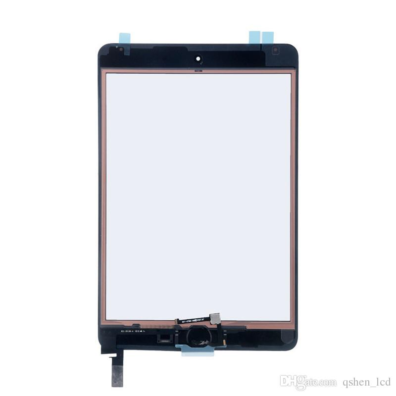 High Copy Quality Front Glass Replacement For iPad Mini 4 Touch Screen with home button Display Digitizer Black & White Assembly