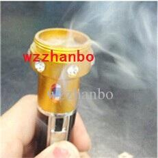 Hot Middle East Incense Burner Click N Vape 5th Crystal Vaporizer Smoking Metal Pipe Neak a Toke Butane Lighter Retail Package