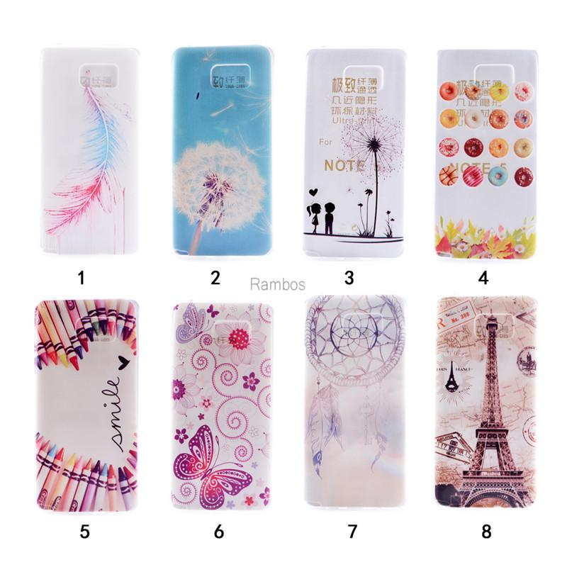 Note 5 Soft Tpu Imd Painted Case Back Cover Dream Catcher Custom Mobile Phone Cases For Samsung