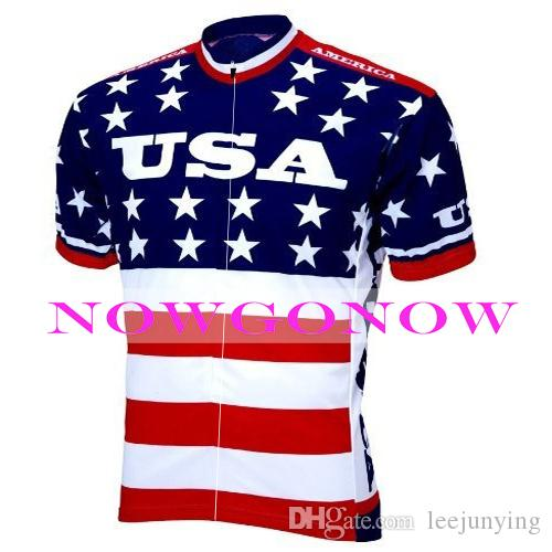 2016 bisiklet jersey ABD Amerika Birleşik Devletleri Amerika ekibi bisiklet giyim aşınma sürme MTB yol ropa ciclismo NOWGONOW bicyce tam zip Polyester SıCAK