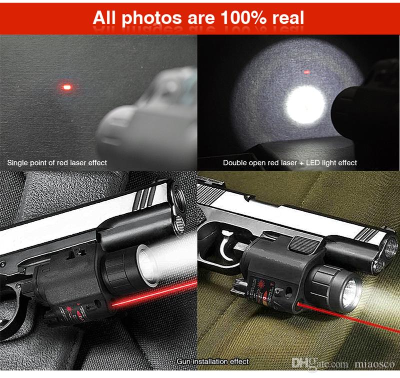 새로운 최대 5mW 빨간 레이저 시력 및 20mm 피카 티니 레일 마운트 전술 손전등 주도 200 루멘을 강화.