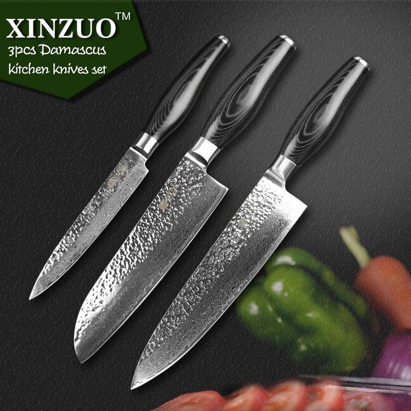 Best Kitchen Knive Set xinzuo kitchen knife set damascus kitchen knife high quality