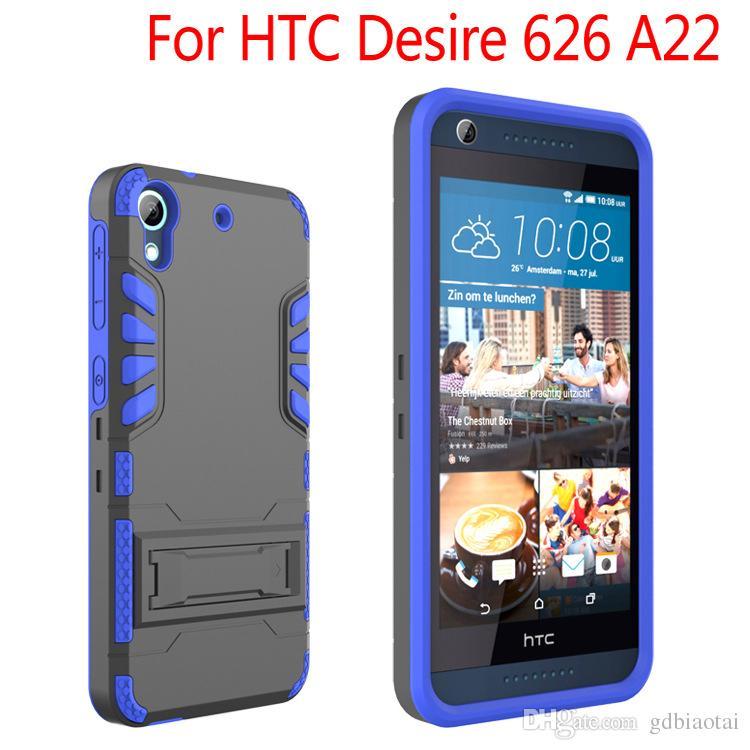 Горячее надувательство все в одном супер комбо сверхмощный с клипсой противоударный сотовый телефон чехол ТПУ + ПК для HTC Desire 626 A22