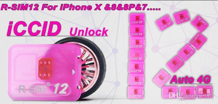 Rsim 12 r sim 12 RSIM12 unlock card v9.6for iphone x iPhone 8 7 plus and i6 unlocked iOS 11 ios 11.x-7.x 4G CDMA GSM WCDMA SB AU SPRINT DHL