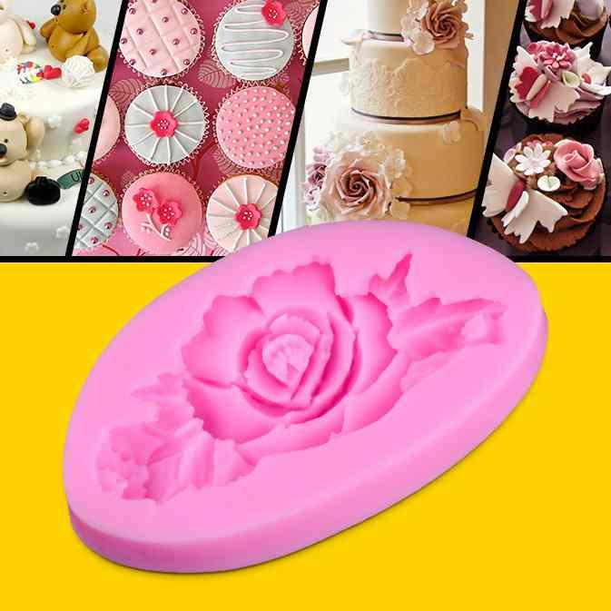 Mini resin flower cake mold silicone baking tools kitchen accessories decorations for cakes Fondant chocolates soap