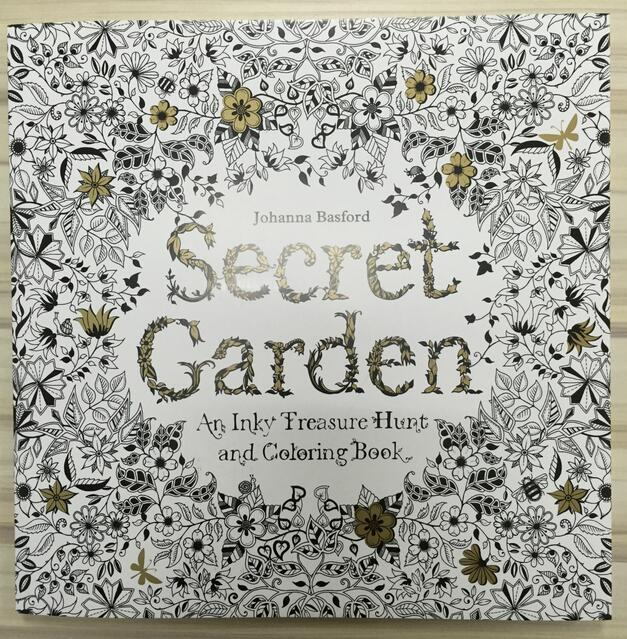 2015 Secret Garden An Inky Treasure Hunt And Coloring Book Adult Children Relax Graffiti Painting
