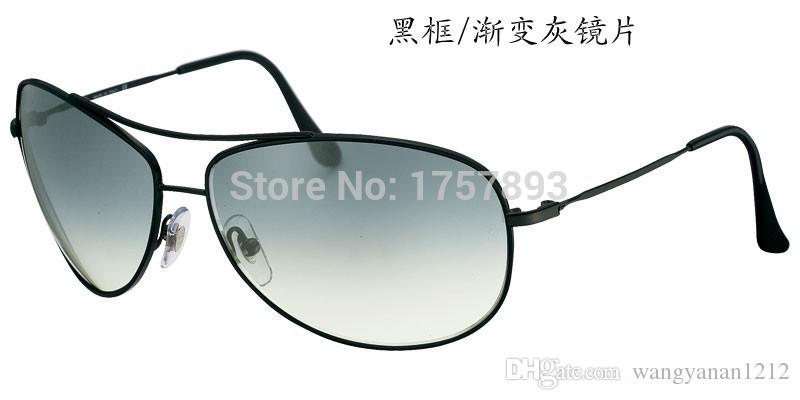 3293 alta qualidade à prova de explosão anti-lance óculos de sol de vidro temperado tendência de homens e mulheres óculos de sol