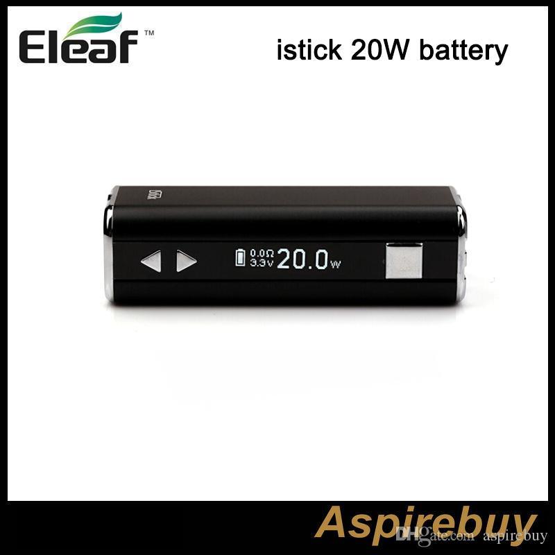 نسخة أصلية من Eleaf iStick 20W 2200mah Battery Moder مع شاشة OLED مزودة ببطارية جهاز eGo للترابط متغير القوة الكهربائية فقط