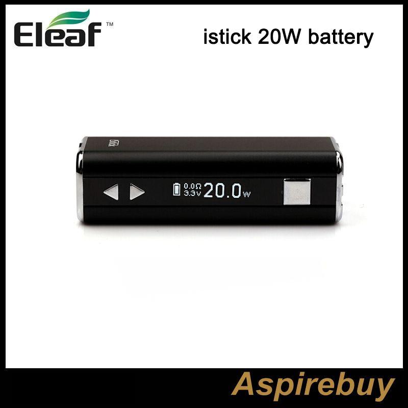 Ismoka Eleaf iStick 20 W 2200 mah Pil VV VW Mod kutusu OLED Ekran ile Değişken Gerilim Watt Cihazı ego 510 Iplik Pil Sadece