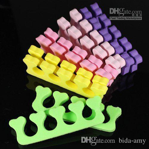 / Random Color Heart Soft Form Finger Toe Separator Acrylic Nail Art Salon Manicure Pedic