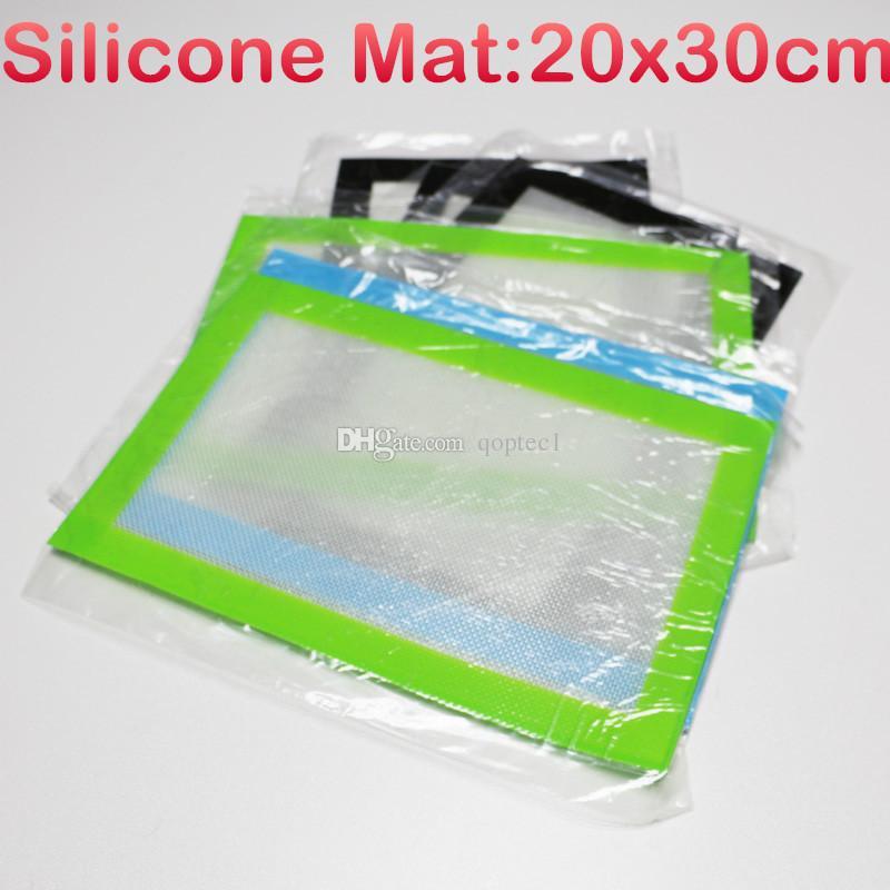 Hochwertige platinvernetzte Silikongummimatte für 510 Vaporizer Mod Vape Silikon Slick Ölmatten Silikon Backmatte 20 * 30cm Backmatte