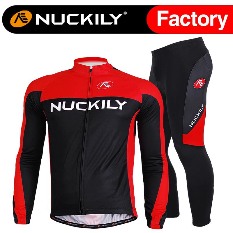Nuckily Outdoors Sports And Cycling Long Sleeve Fleece Jersey And ... de78d3e08