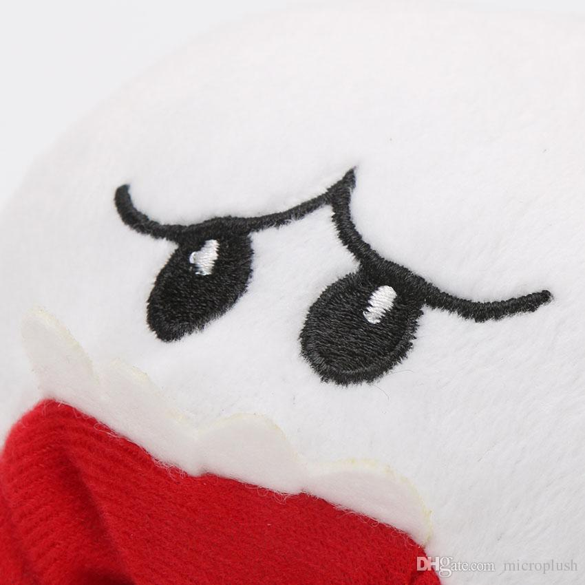 12cm Super Mario Bros boo ghost Plush Stuffed Dolls Mario Plush Toys Figures White characters game gift