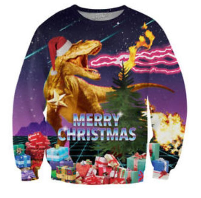 Nova Moda Casais Homens Mulheres Unisex Feliz Natal 3D Impressão Hoodies Camisolas Camisola Jaqueta Pulôver Top S-6XL W5