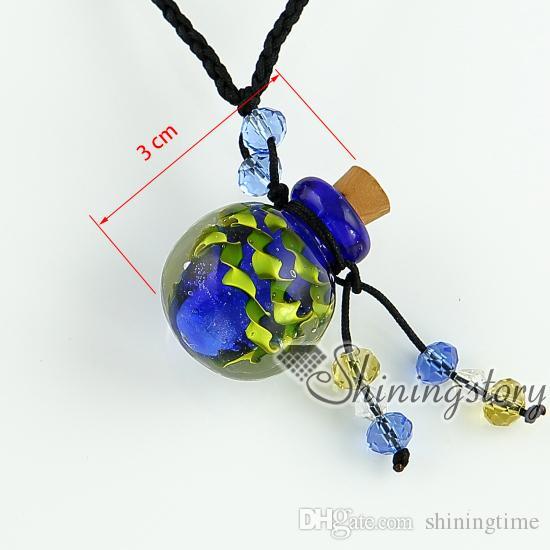 vide petit verre flacon collier pendentifs collier flacons pour cendres gros fournisseur italien verre de murano avec des bijoux de fleurs