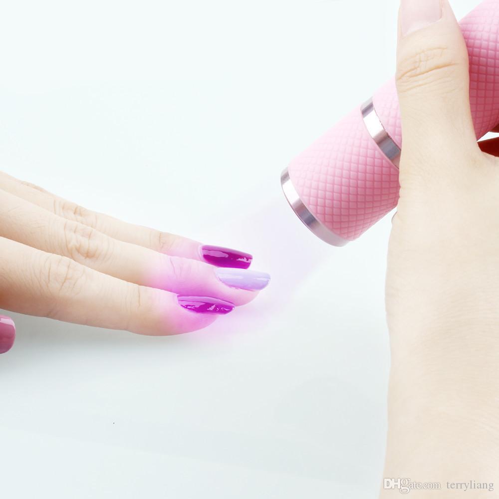 Мини УФ-свет ручной портативный путешествия светодиодные лампы гель для ногтей 10s быстрая сушилка отверждения маникюрные инструменты 4 цвета доступны