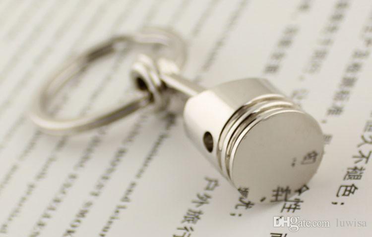 Piston Keychain Creative Accessoires Auto Partie Modèle Automobile Porte-clés Porte-clés Anneau Porte-clés Keyfob / Haute Qualité