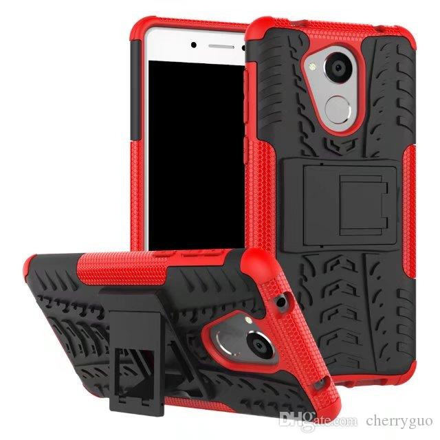 Shockproof Rubber Hard Armor Hybrid Rugged Case Protective Stand Cover for Huawei Honor 6C