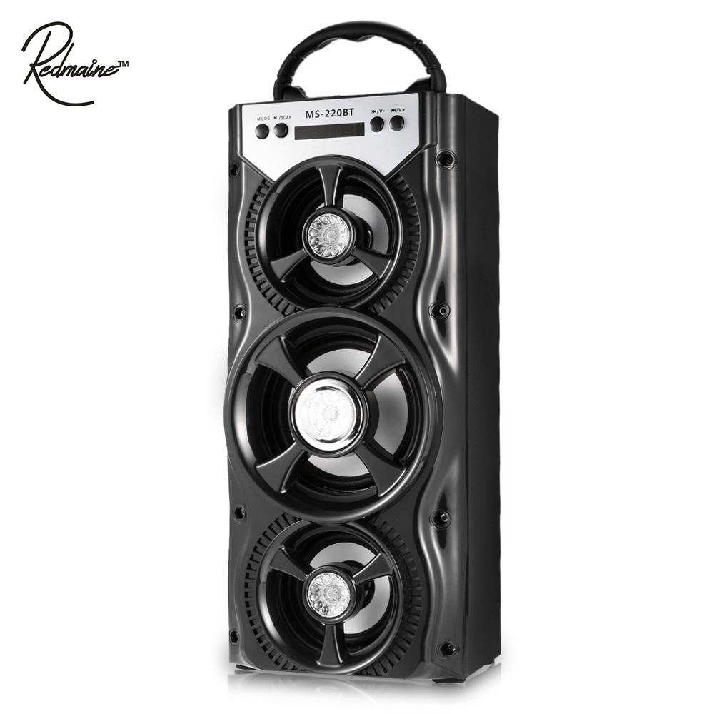 Redmaine Portable Bluetooth Speaker FM Radio AUX Multifunctional With 4-inch Big Ppeaker and Sleek Colorful Backlight