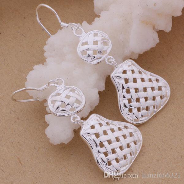 Moda fabricante de la joyería 20 piezas mucho Hollow Gourd pendientes de fábrica de la joyería de la plata esterlina 925 Moda Shine Earrings