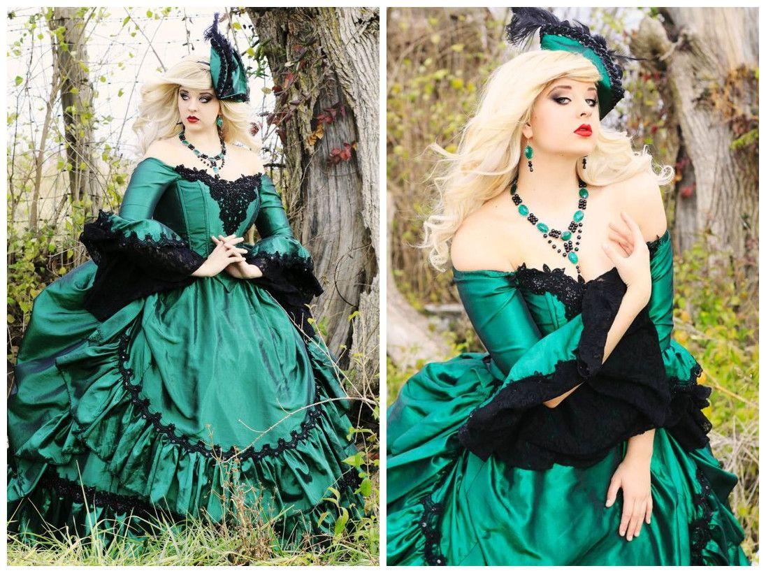 Lolita Inspired Vampire Blue Wedding Dress Lace In Retro Victorian ...