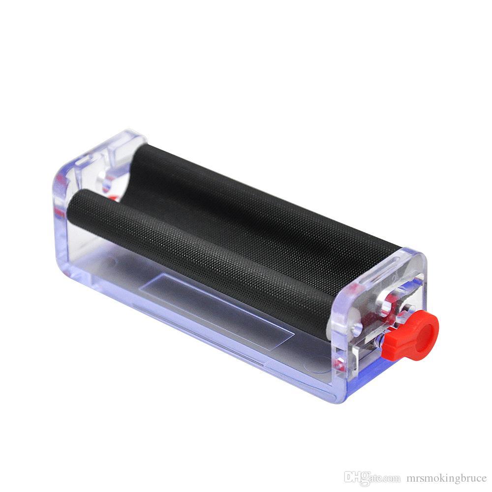 70mm transparente einstellbare Kunststoff-Tabakrolle Zigaretten-Rollmaschine Handrollenmaschine Handmuller Raucher-Zubehör