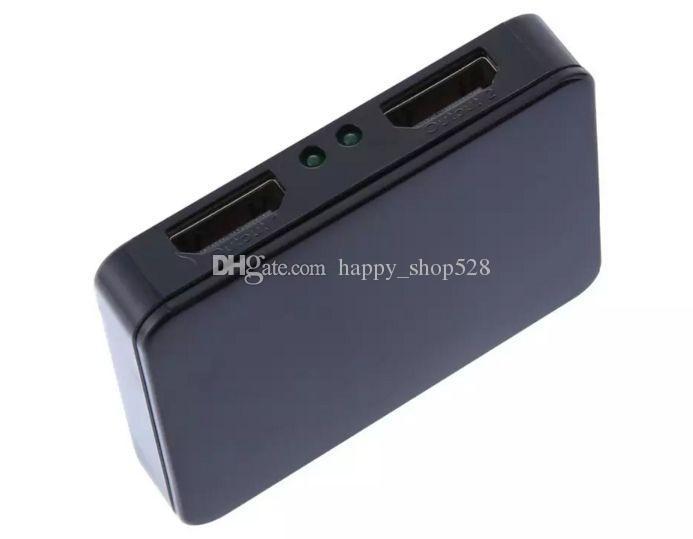 Ultra HD 4K HDMI Splitter volles HD 3D 1080p Video HDMI Schalter Switcher 1X2 Split 1 in 2 Out Amplifier Dual Display mit Kleinkasten