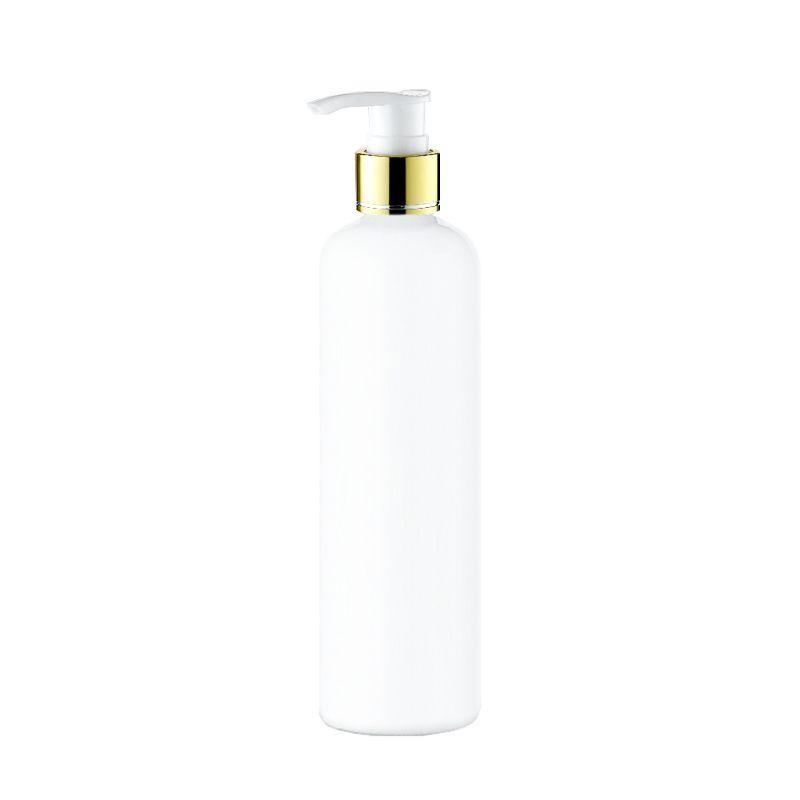 20 adet 300 ml boş losyon Altın yaka pompası beyaz şişe, PET kozmetik konteyner ile sıvı sabunluk, amber sprey doldurulabilir şişe