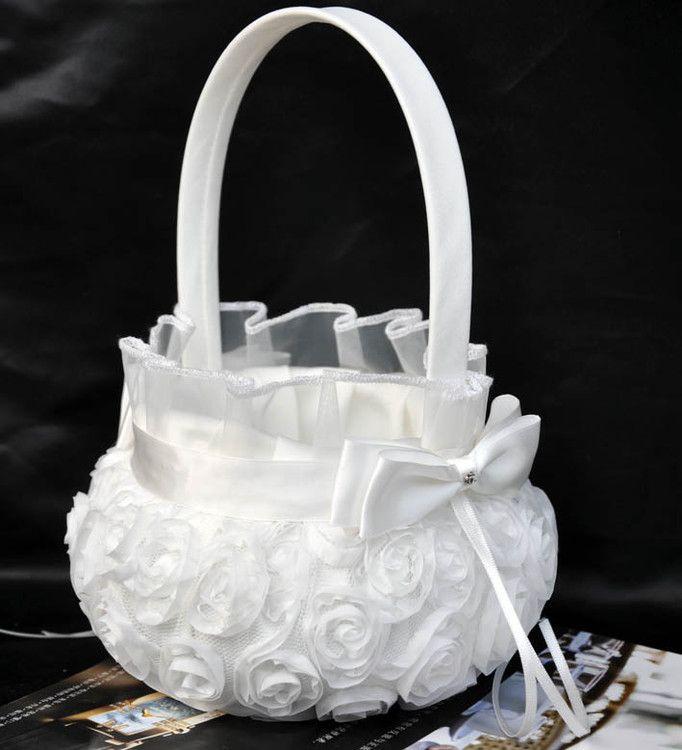 2020 Trendy Moda Düğün Töreni Parti Aşk Vaka Saten Ilmek Gül Çiçek Kız Basket Düğün Ziyaretçi Defteri Kalem Seti Yüzük Yastık