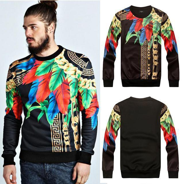 New Fashion Mens 3d Sweatshirt Printed Floral Chain Stylish Pullover  Hoodies Full Sleeve Tops For Autumn Hip Hop Sweat Shirts UK 2019 From  Yoninah e5bee38fa