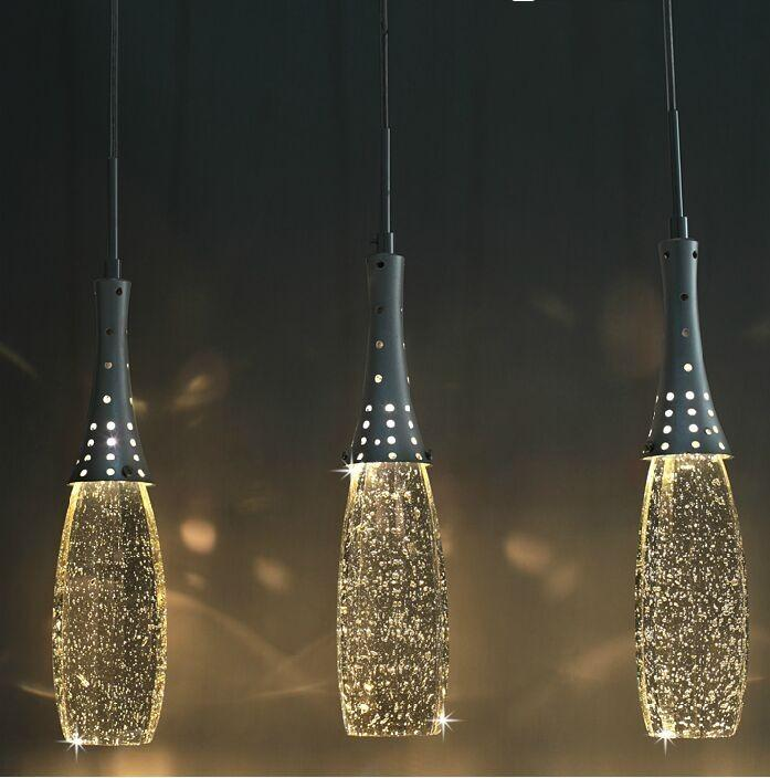 Free shipping Modern Crystal Lights Bubble Pendant Light with G4 Bulbs- Shade Artistic Droplight Single heads Chandelier Lighting : crystal light pendant chandeliers - azcodes.com