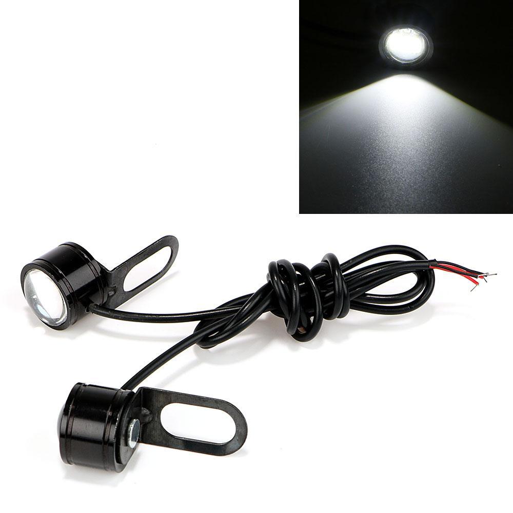 Faros antiniebla de motocicleta Eagle Eye LED Luces de marcha atrás inversas DRL Luz diurna DC 12V Moto Accesorios